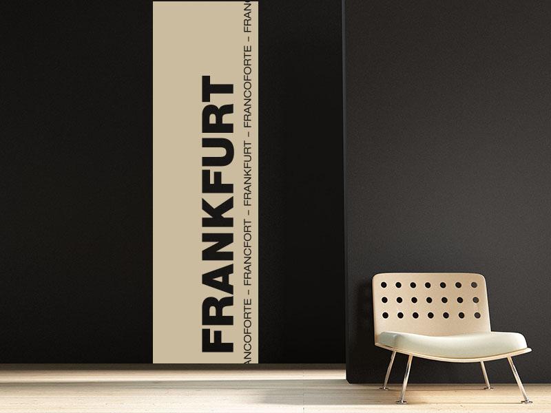Wandtattoo Wandtattoo Banner der Stadt Frankfurt