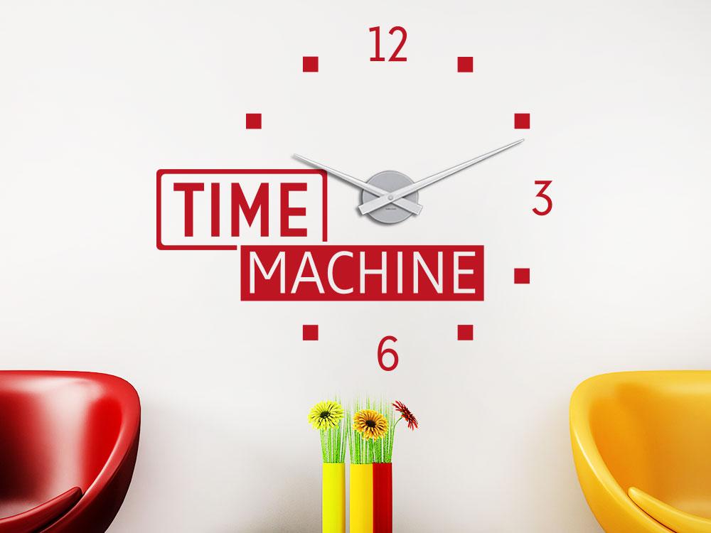 Wandtattoo Uhr Time Machine