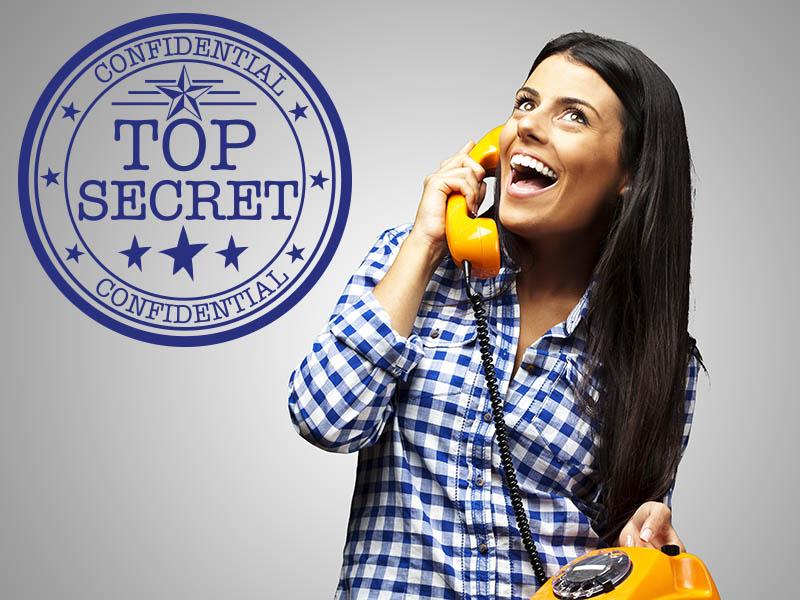 Wandtattoo Button Top Secret