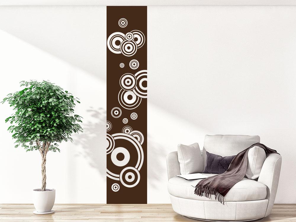 Wandtattoo Wandbanner Kreise im Wohnzimmer