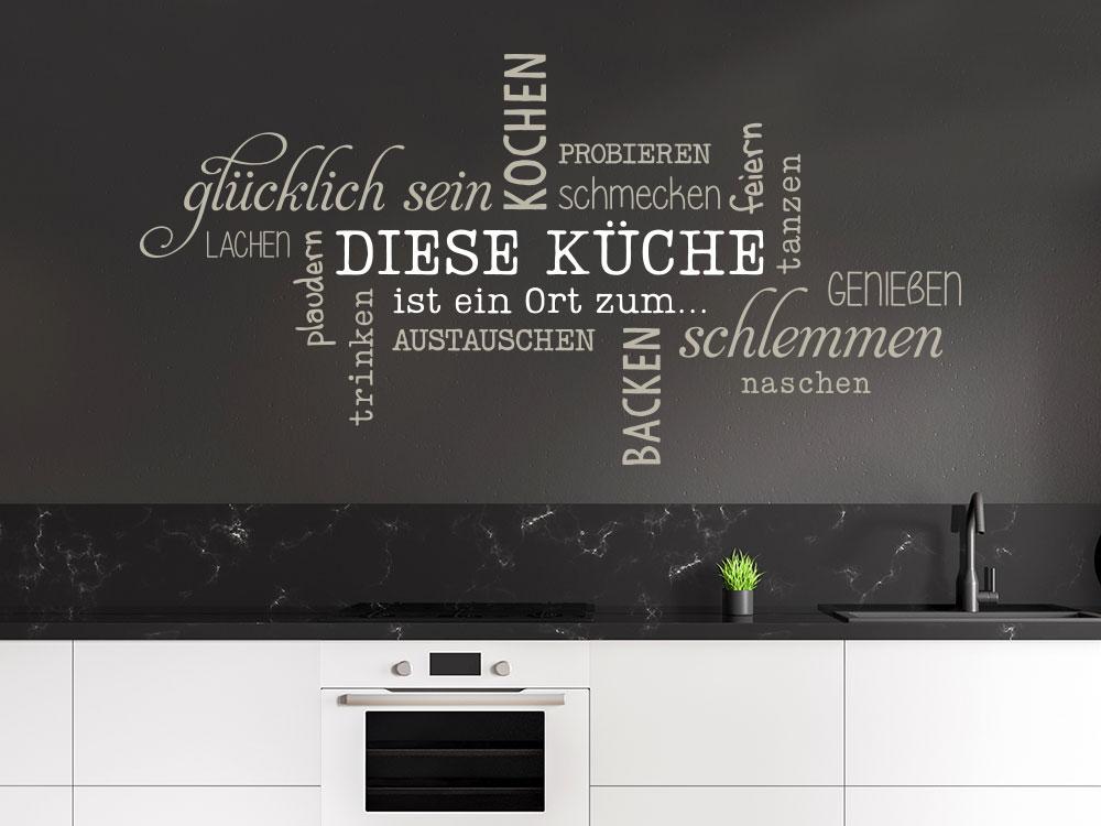 Wandtattoo Diese Küche Wortwolke