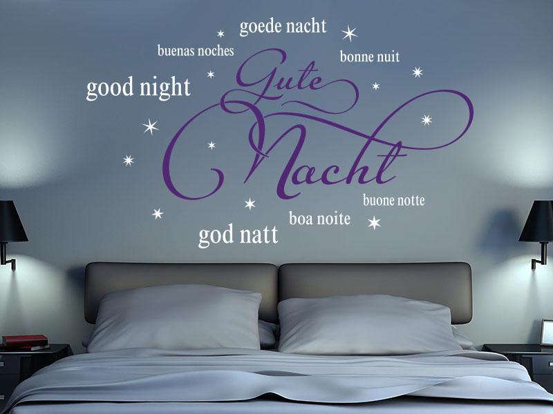 Wandtattoo Gute Nacht zweifarbig