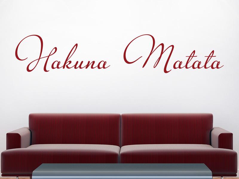 Wandtattoo Hakuna Matata Schriftzug Rot