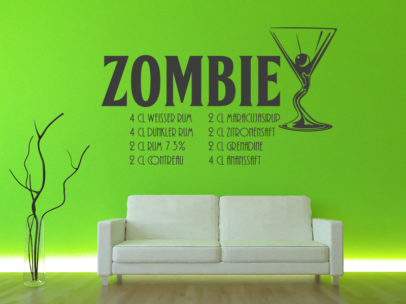 Wandtattoo Cocktail Zombie