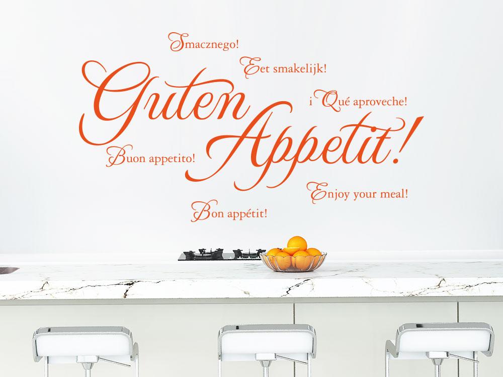 Wandtattoo Guten Appetit Sprachen als Küchendeko