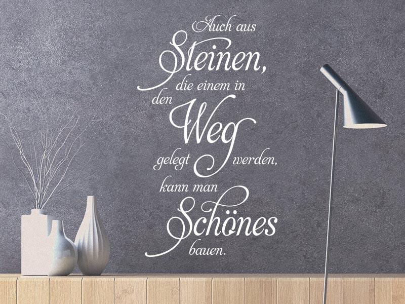 Wandtattoo Auch Aus Steinen Klebeheld De
