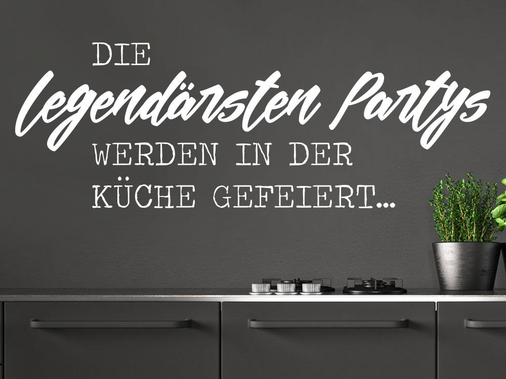 Wandtattoo Die legendärsten Partys werden in der Küche gefeiert