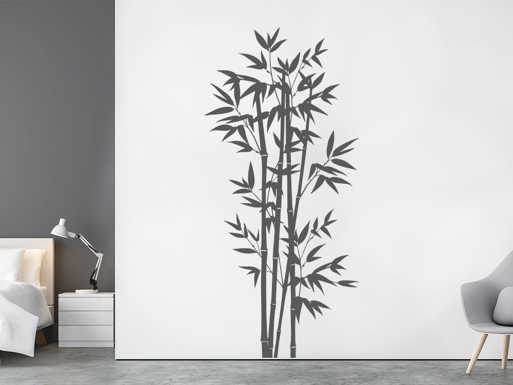 Wandtattoo Bambus Strauch