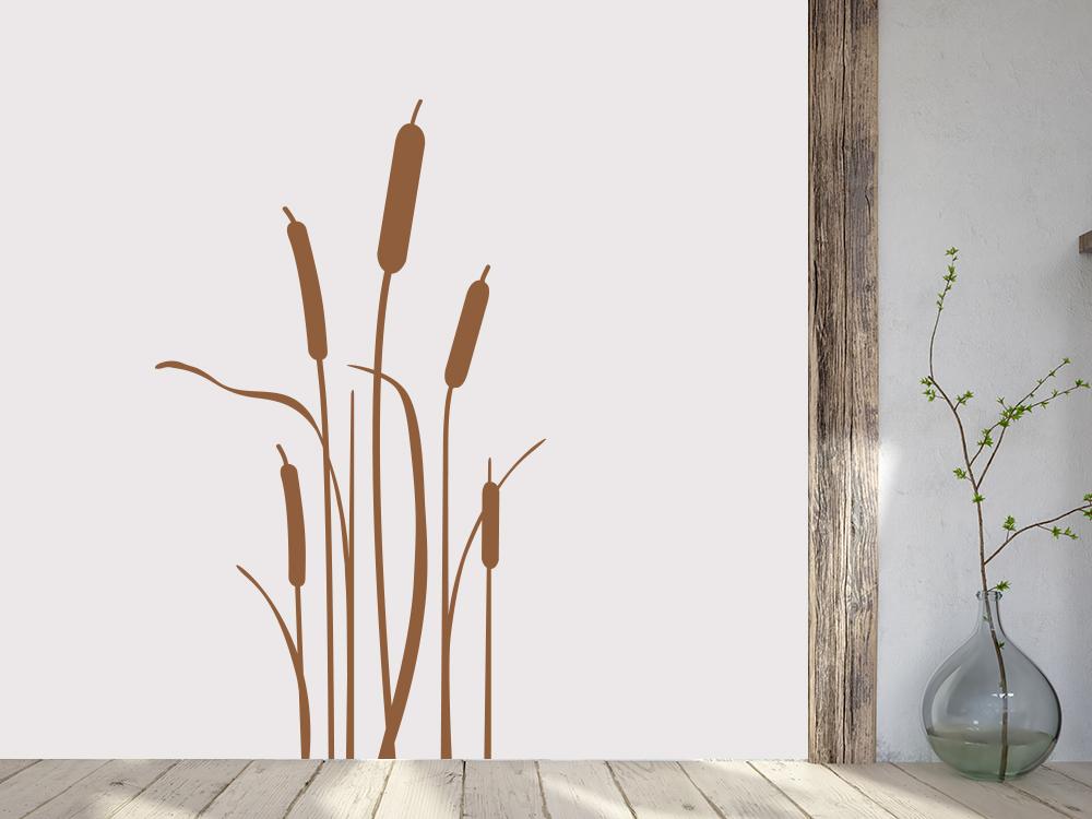 Wandtattoo Schilf Gras im Eingangsbereich