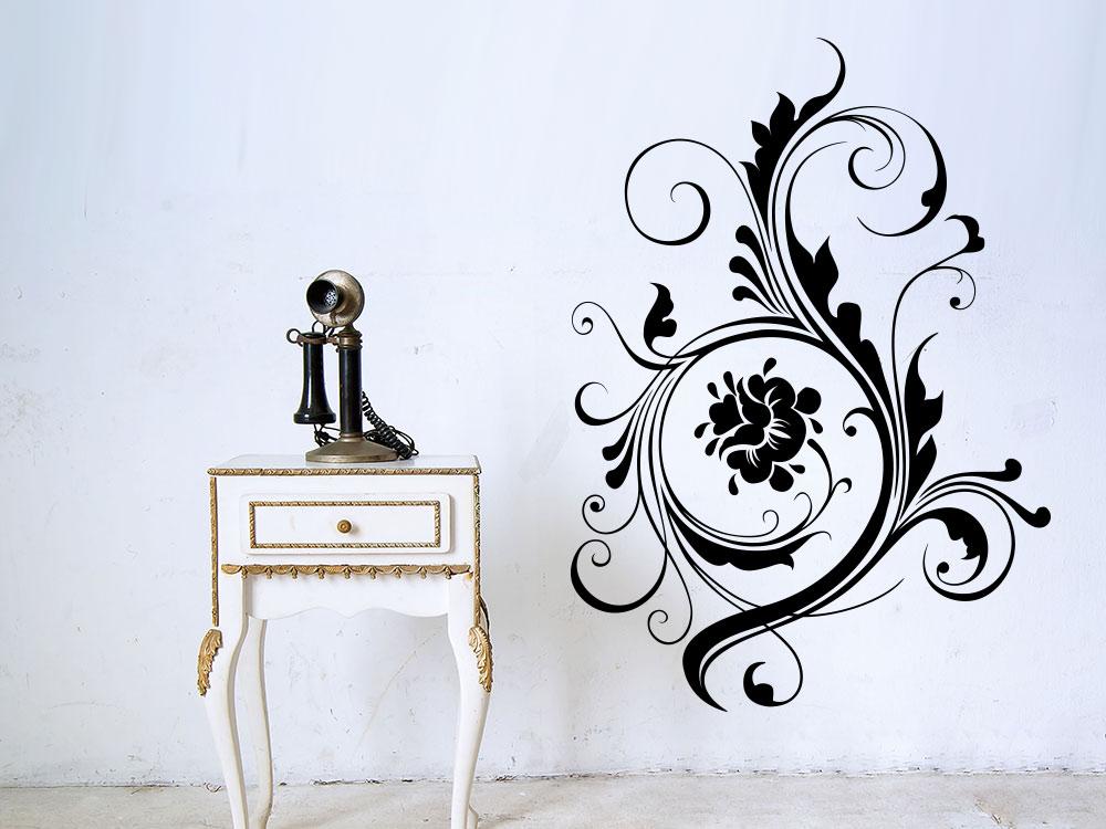 Wandtattoo Großes Blütenornament Wohnzimmer