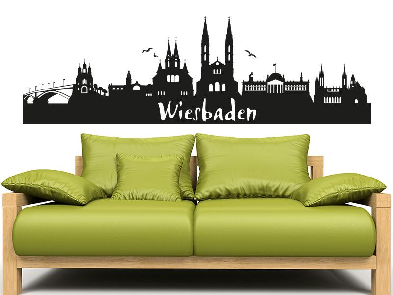 Wandtattoo Skyline Wiesbaden