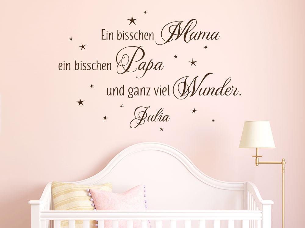 Wandtattoo mit Name Ein bisschen Mama… mit Mädchenname