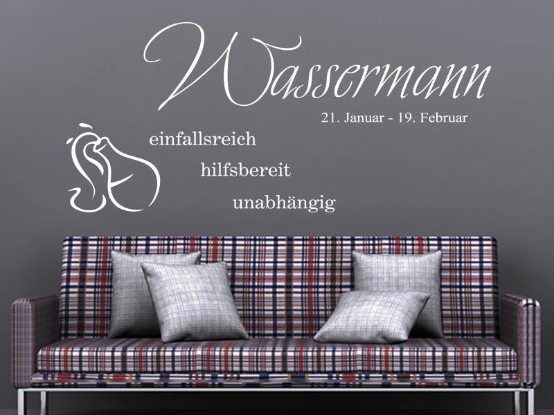 Wandtattoo Sternzeichen Wassermann