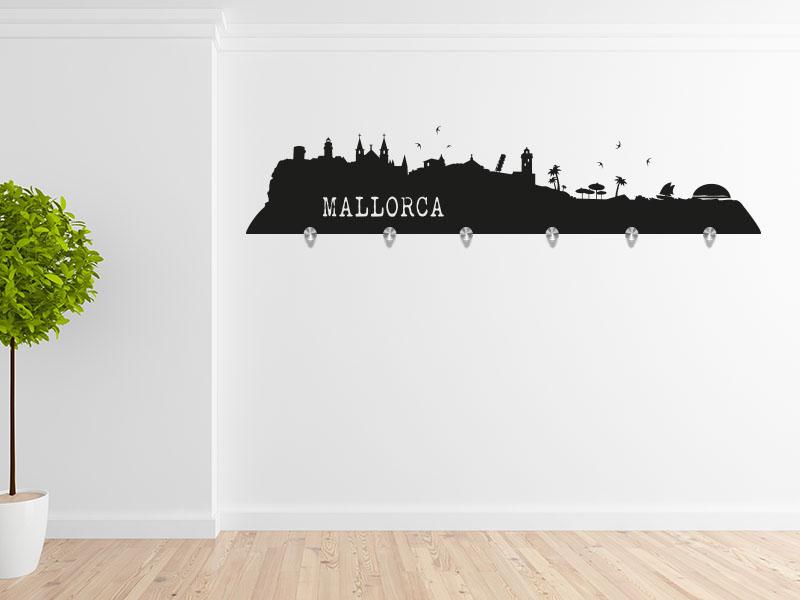 Wandtattoo Garderobe Skyline Mallorca