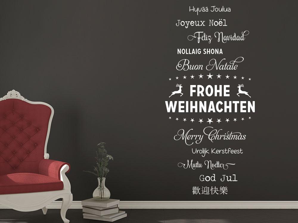 Wandtattoo Frohe Weihnachten Worte