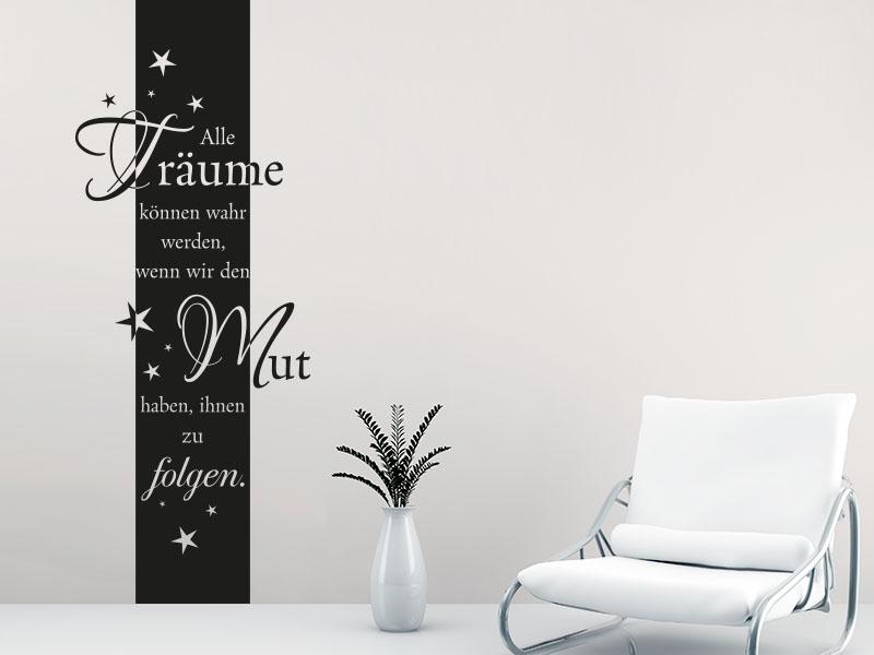 Wandtattoo Banner Alle Träume
