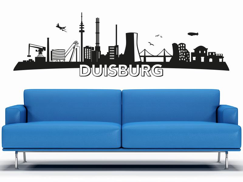 Wandtattoo Skyline Duisburg