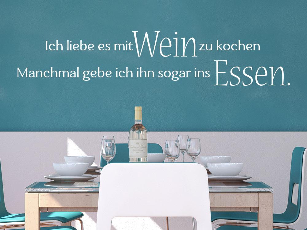 Wandtattoo Ich Liebe Es Mit Wein Zu Kochen Klebeheld De