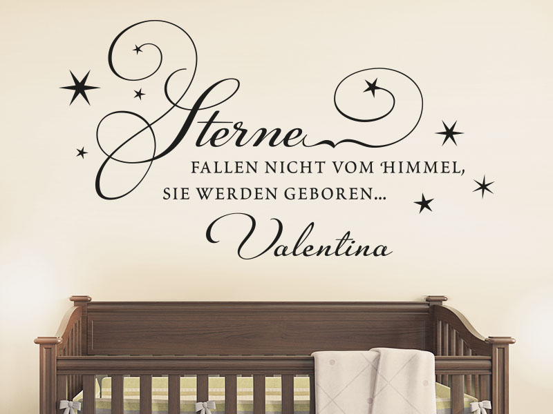 wandtattoo sterne fallen nicht vom himmel. Black Bedroom Furniture Sets. Home Design Ideas