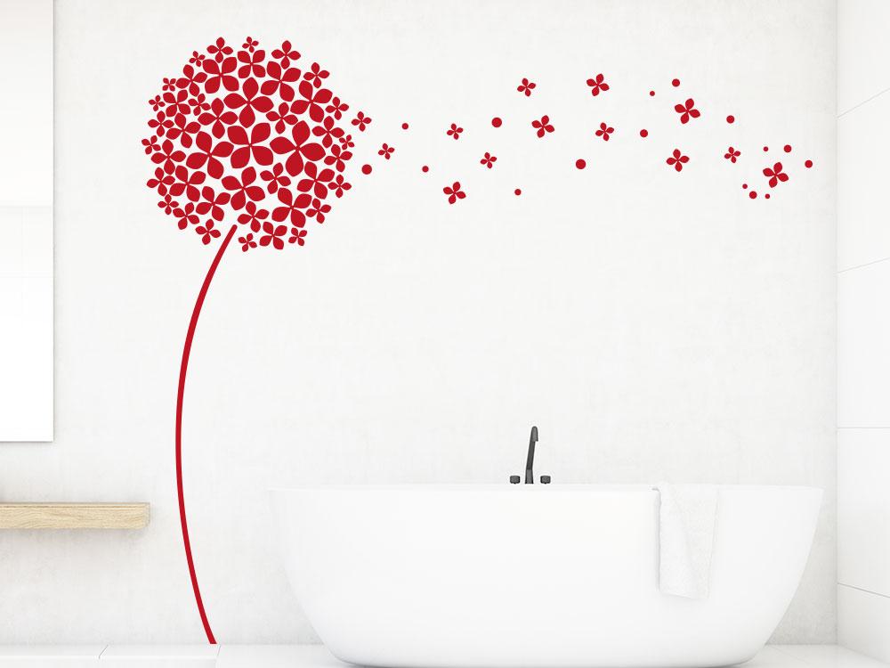 Dekorative Wandtattoo Pusteblume badezimmer