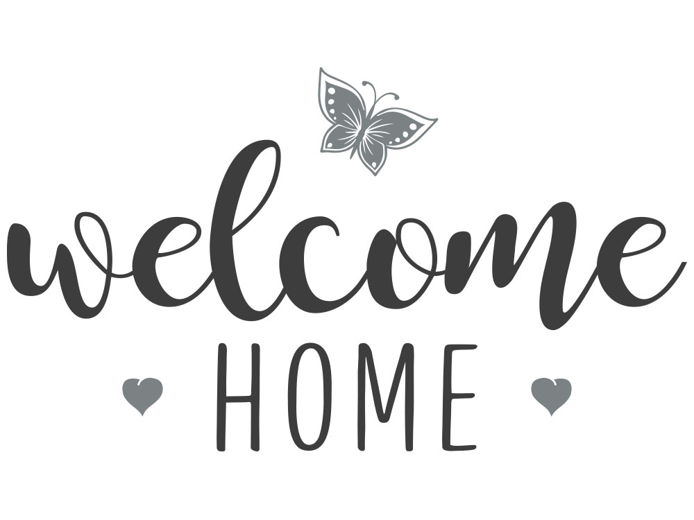 Wandtattoo welcome home - Gesamtansicht des Wandtattoos