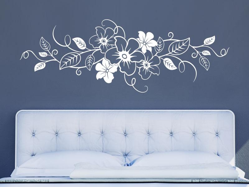 Wandtattoo Ornament mit Blumen