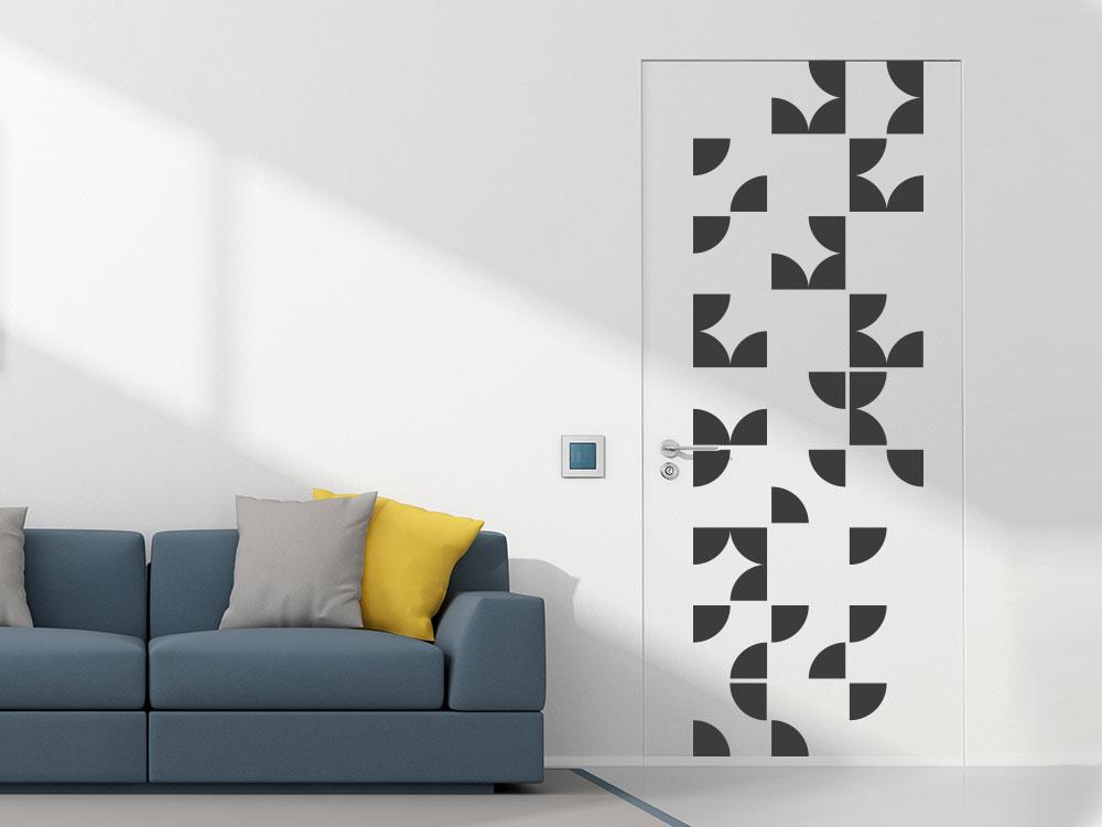 Wandtattoo Wandbanner Teilkreise auf Zimmertür