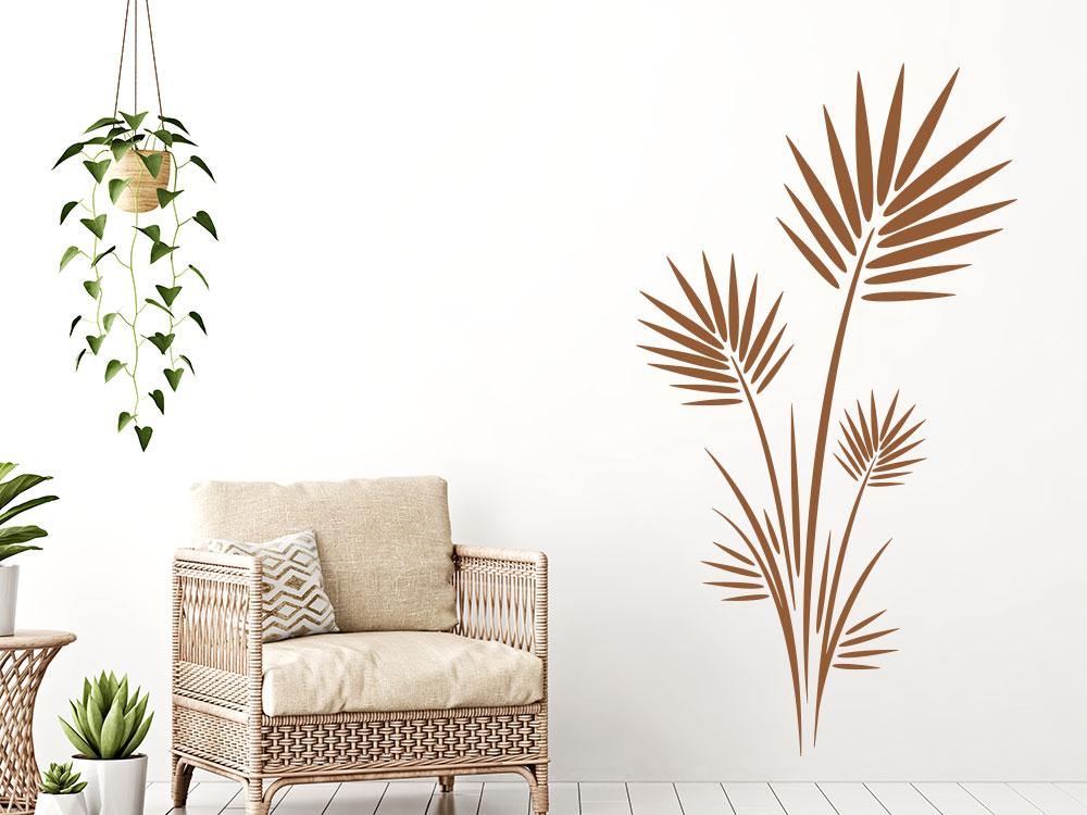 Wandtattoo Blätterstrauch gross im Wohnzimmer