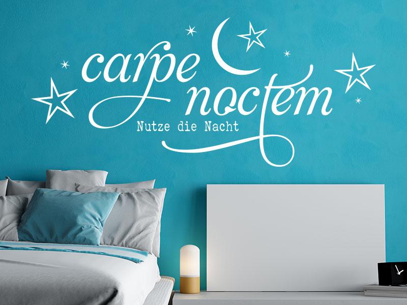 wandtattoo carpe noctem no 1 von klebeheld. Black Bedroom Furniture Sets. Home Design Ideas