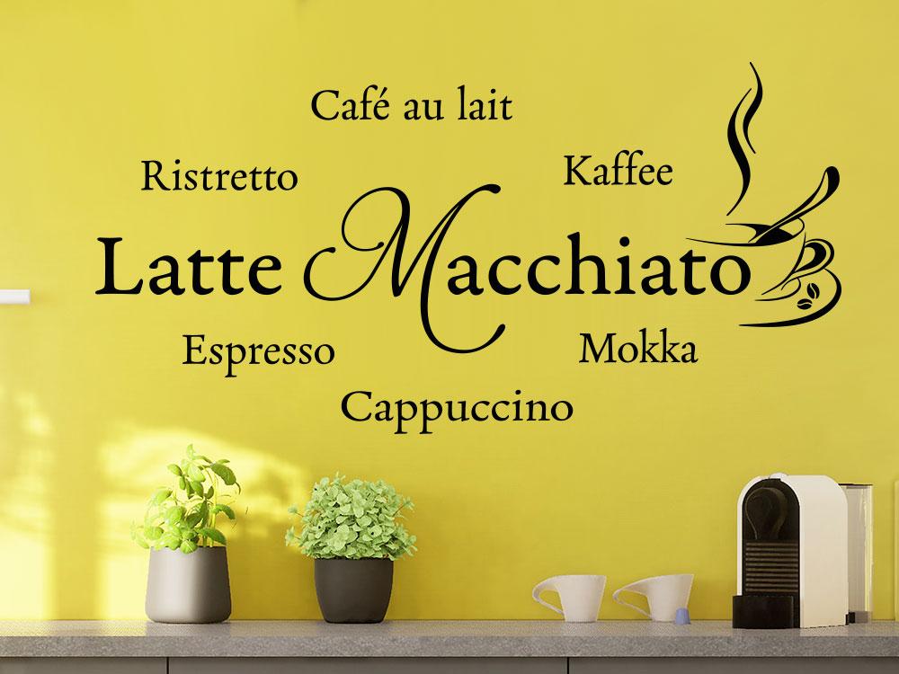 Wandtattoo Latte Macchiato