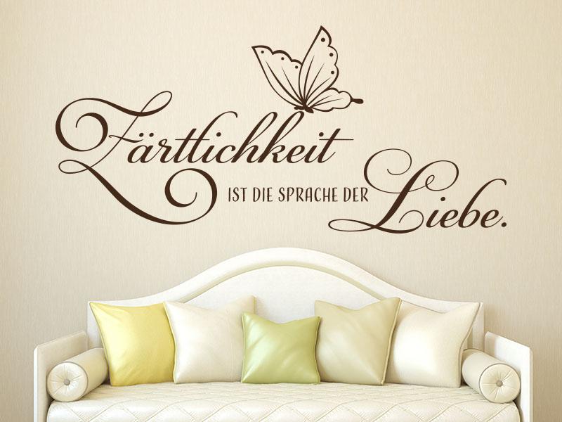 Wandtattoo Spruch Liebe - Zärtlichkeit ist die Sprache der Liebe.