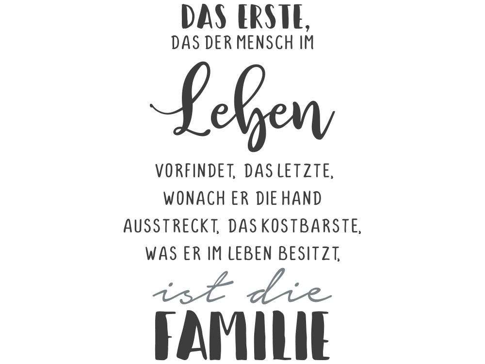 Leben ist die Familie Wandtattoo Familienspruch