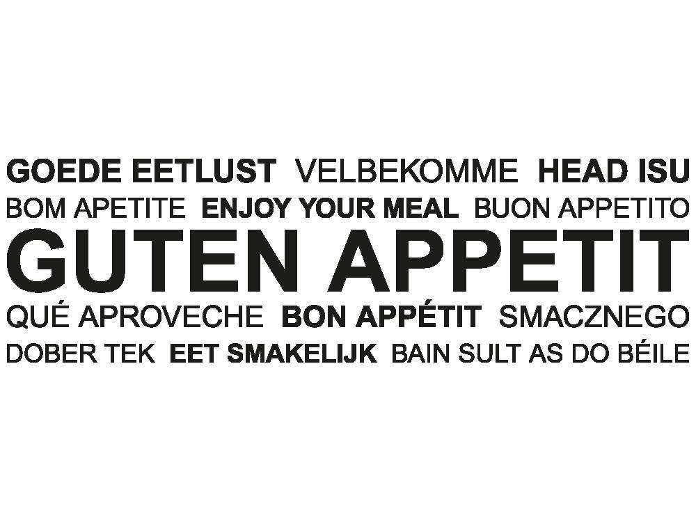 Guten Appetit Französisch wandtattoo wortwolke guten appetit mehrsprachig klebeheld