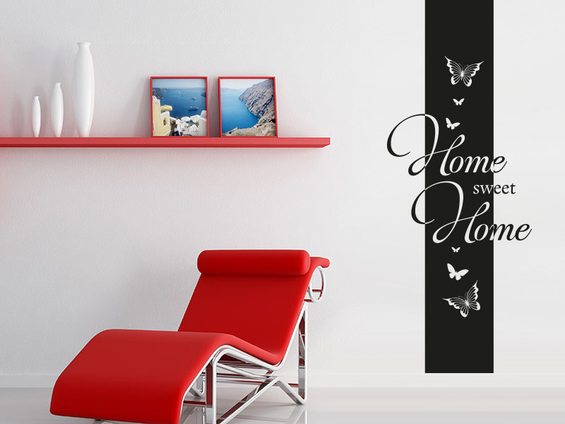 wandtattoo banner home sweet home von klebeheld. Black Bedroom Furniture Sets. Home Design Ideas