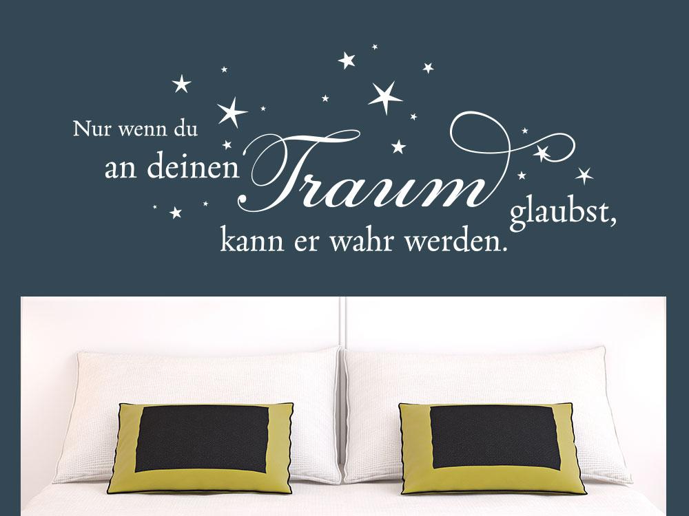 Wandtattoo Nur wenn du an deinen Traum glaubst inkl. Sterne
