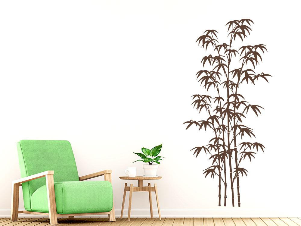 Wandtattoo Bambus Deko