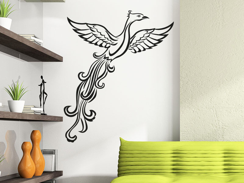 Wandtattoo Eleganter Vogel