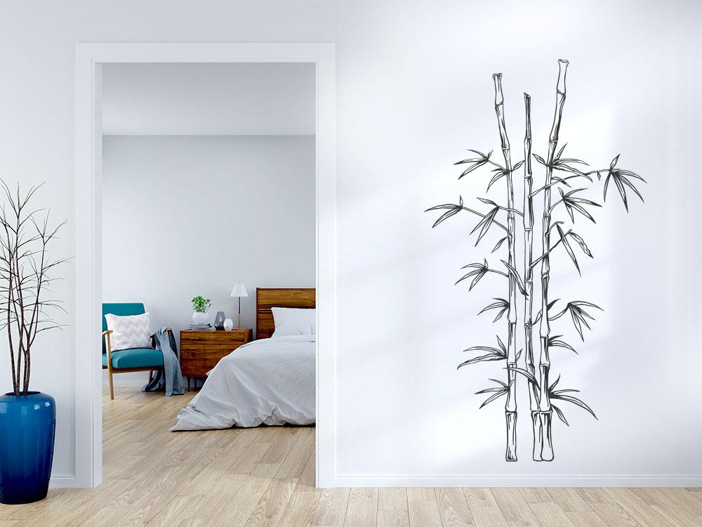 Wandatttoo Bambus Pflanze
