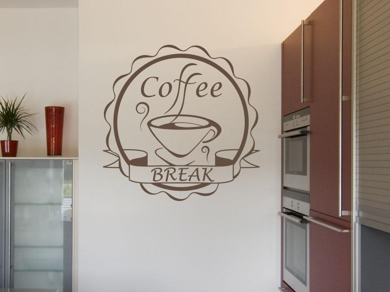 Wandtattoo Button Coffee Break