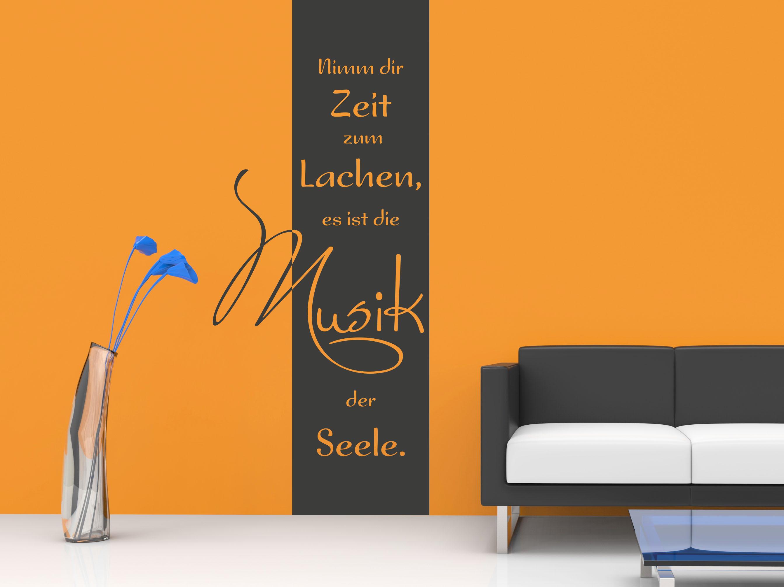 Wandtattoo Wandbanner Nimm dir Zeit zum Lachen