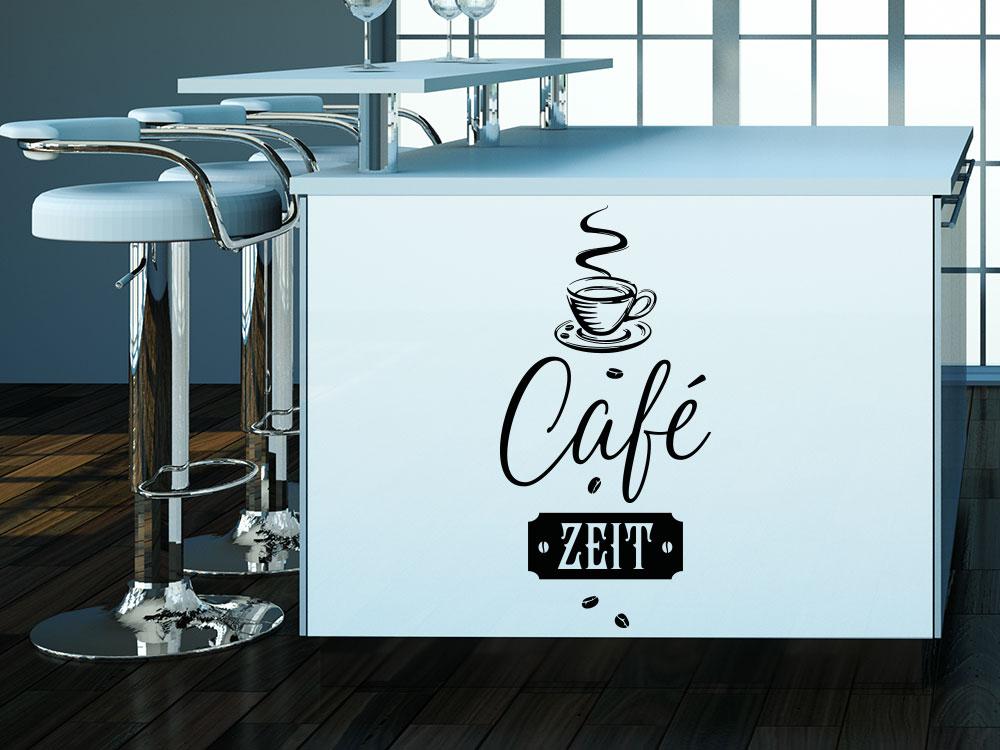 Wandtattoo Café Zeit in Küche