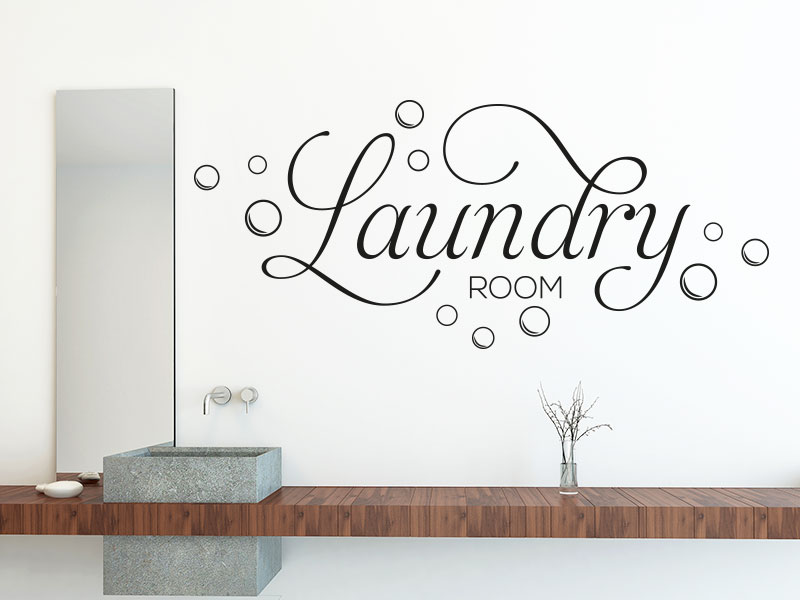 Wandtattoo Laundry Room