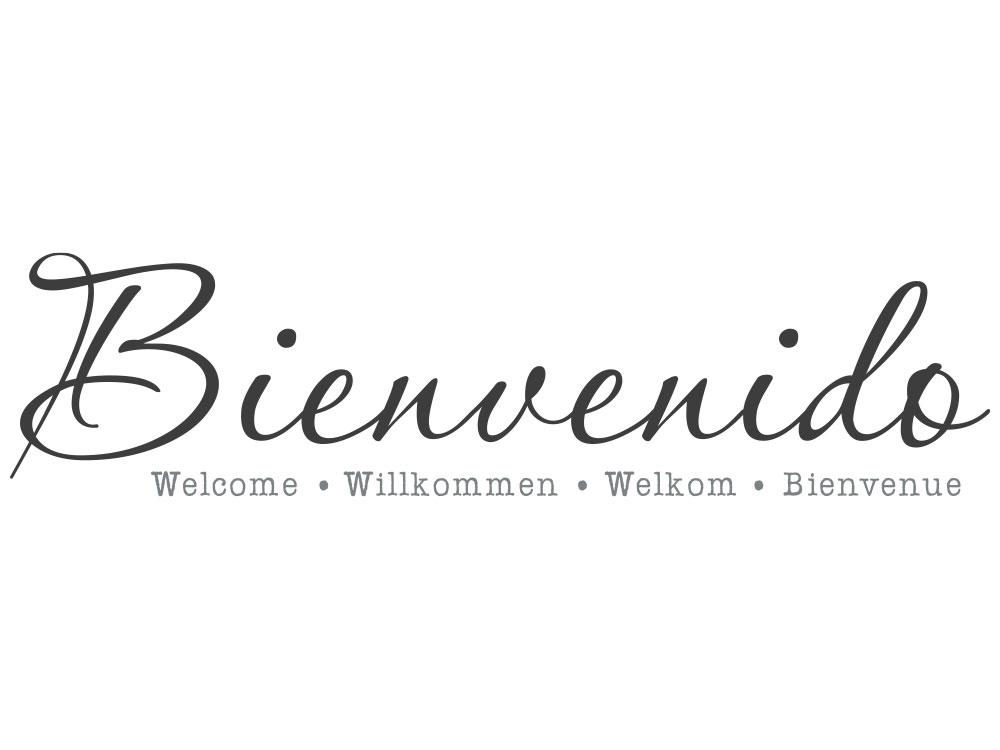 Wandtattoo Bienvenido Willkommen in vielen Sprachen