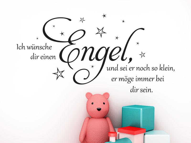 Wandtattoo Ich wünsche dir einen Engel