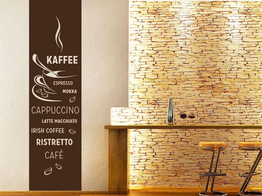 Wandtattoo Banner Kaffee im Esszimmer