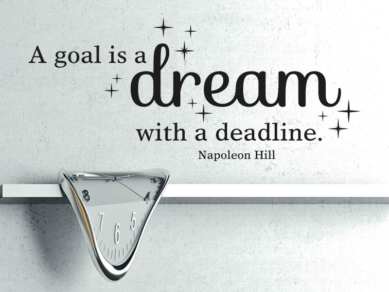 Wandtattoo Zitat A goal is a dream with a deadline