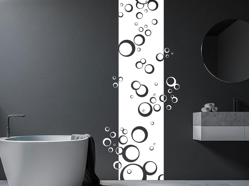 Wandtattoo Wandbanner Kreise als Seifenblasen im Bad