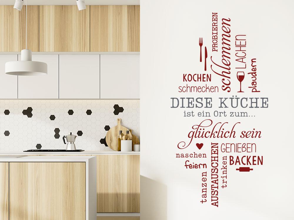 Wandtattoo Diese Küche ist ein Ort