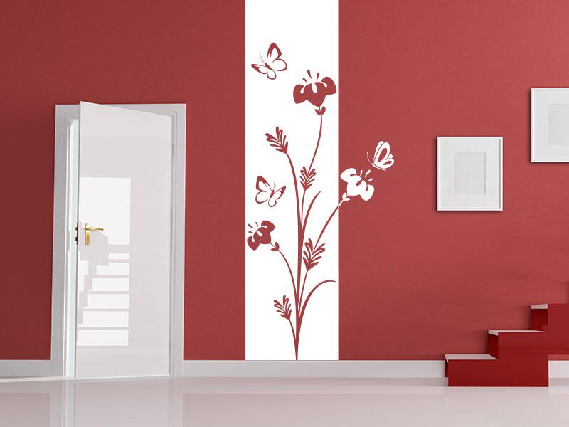 wandtattoo als wandbanner blumen wandtattoos pflanzen. Black Bedroom Furniture Sets. Home Design Ideas