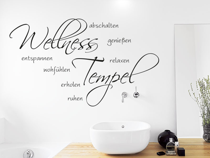 Wandtattoo Wellness Tempel No.1